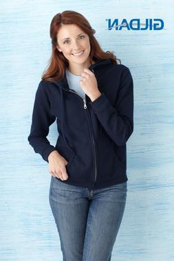 Women Gildan Heavy Blend Full Zip Hooded Sweatshirt 18600FL
