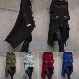 Women Hoodie Dress Long Hooded Casual Loose Sweatshirt Sweat