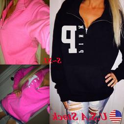 Women Hoodie Long Sleeve Sweatshirt Pullover Tops Hooded Jum