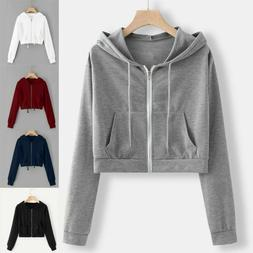 women loose long sleeve hoodie sweatshirt jumper