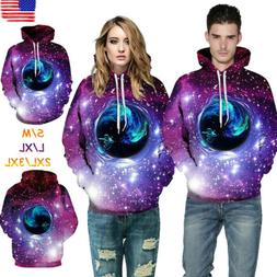 Women/Men Sweatshirts Couple Hoodie Galaxy Hooded Pullover J
