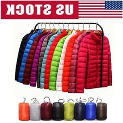 Women Packable Down Jacket Ultralight Stand Collar Coat Wint