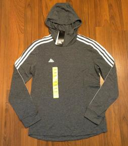 adidas Women's 3 Stripe Hoodie Shirt Sizes M New