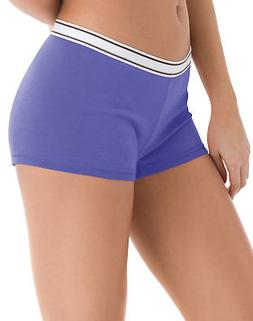 Hanes Women's Boy Brief Panties Cotton 6-Pack Sporty Assorte