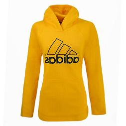 adidas Women's Essential Linear Hollow Pullover Hoodie Canar