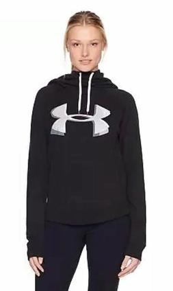 UNDER ARMOUR Women's Exploded Logo Hoodie 1316121-001 Black