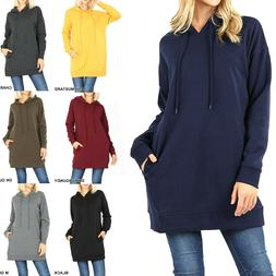 Women's Fleece Hoodie Sweater Long Hooded Oversize Sweatshir