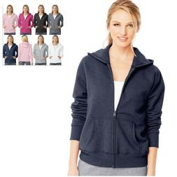Hanes Women's Full-Zip Hoodie Sweatshirt O4637 Size S-2XL