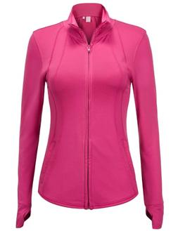 Regna X Women's Full Zip Slim Sport Stretchable Workout Trac