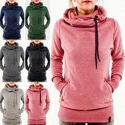 Women's Long Sleeve Hoodie Hooded Sweatshirt Sweater Casual
