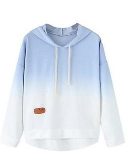 SweatyRocks Women's Long Sleeve Hoodie Sweatshirt Colorblock