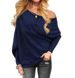 Othyroce Women's Off The Shoulder Sweater Pullover Sweaters