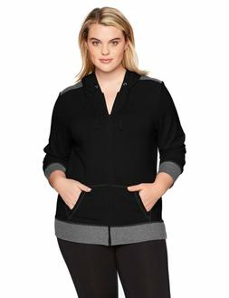 Just My Size Women's Plus Size Active French Terry Full-Zip