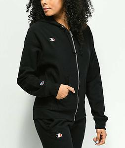 Women's Champion Reverse Weave Full Zip Icon Hoodie - Black