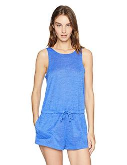 Speedo Women's Scoop Back Romper, Iris Blue, X-Small