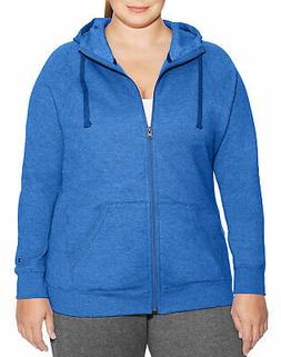 Champion Women's Sweatshirt Hoodie Plus Powerblend Fleece Fu