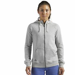 Reebok Women's Training Essentials Fleece Full-Zip Hoodie