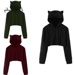 women sweatshirt jumper sweater crop top coat