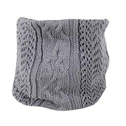 XUANOU Women Winter Solid Warm Knit Cowl Neck Mohair Scarf S