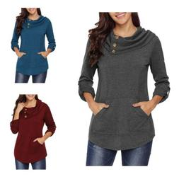 Womens Autumnn Fashion Long Sleeve Pullover Hoodie Sweater S