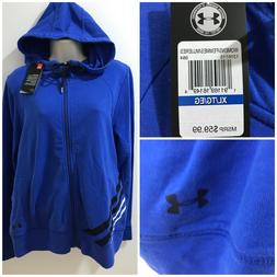 Under Armour Womens Blue Sz XL French Terry Full Zip Hoodie