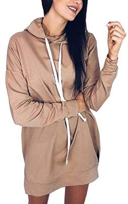 Angashion Womens Causal Long Sleeve Cotton Pullover Hoodie S