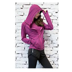 Womens Stretchy Running Workout Sport Jacket Zip Yoga Hoodie