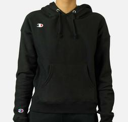 Champion WOMENS FLEECE PULLOVER HOODY BLACK GF757 Y06145 003