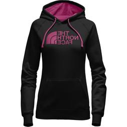 The North Face Womens Half Dome Hoodie TNF Black Pink Pettic