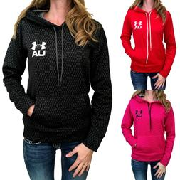 Womens Under Armour Hoodie Coldgear Printed Pullover Black M