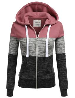 Womens Lightweight Thin Zip-Up Hoodie Jacket for Women with