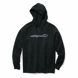 Champion Womens Logo Powerblend Fleece Pullover Hoodie Black
