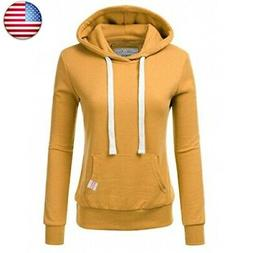 NINEXIS Womens Long Sleeve Fleece Pullover Hoodie