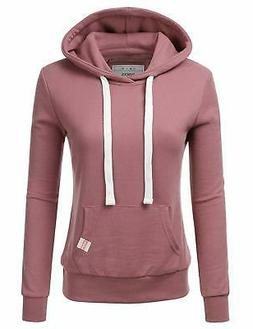 NINEXIS Womens Long Sleeve Fleece Pullover Hoodie Soft and c