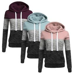 womens long sleeve hoodie sweatshirt pocket hooded