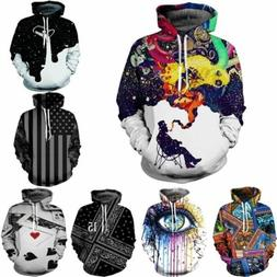 Womens Mens pullover Fashion Hoodie Jacket Jumper Tops Sweat
