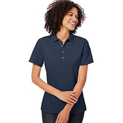 By Hanes X-Temp Women's Pique Polo Shirt_Navy_XL