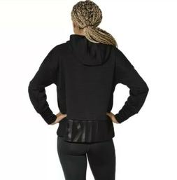 XL Women's NIKE Dri-Fit Hoodie AH8971 010 BLACK CASUAL SPORT